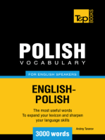 Polish Vocabulary for English Speakers: 3000 words