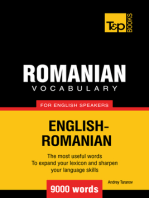 Romanian Vocabulary for English Speakers: 9000 words