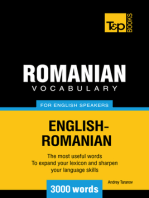 Romanian Vocabulary for English Speakers