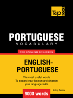 Portuguese Vocabulary for English Speakers: 9000 words