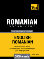 Romanian Vocabulary for English Speakers: 5000 words