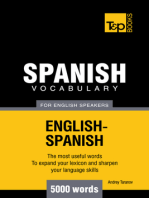 Spanish Vocabulary for English Speakers: 5000 words