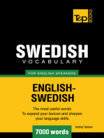 Swedish Vocabulary for English Speakers: 7000 words