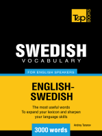 Swedish Vocabulary for English Speakers: 3000 words