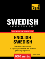 Swedish Vocabulary for English Speakers: 9000 words