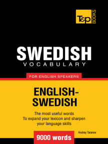 Swedish Vocabulary for English Speakers: 9000 words