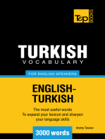 Turkish Vocabulary for English Speakers: 3000 words