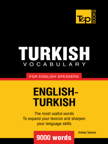 Turkish Vocabulary for English Speakers: 9000 words