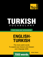 Turkish Vocabulary for English Speakers: 7000 words