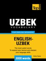 Uzbek Vocabulary for English Speakers: 3000 words