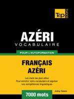 Vocabulaire Français-Azéri pour l'autoformation