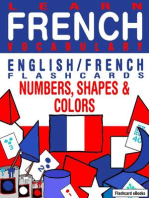 Learn French Vocabulary: English/French Flashcards - Numbers, Shapes and Colors