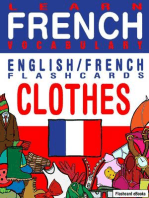 Learn French Vocabulary: English/French Flashcards - Clothes