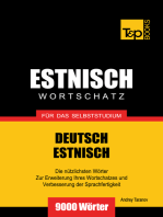 Deutsch-Estnischer Wortschatz für das Selbststudium