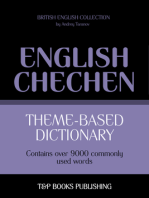 Theme-Based Dictionary: British English-Chechen - 9000 words