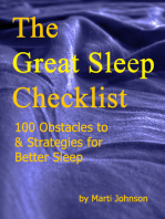 The Great Sleep Checklist, 100 Obstacles To & Strategies for Better Sleep