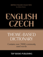 Theme-Based Dictionary: British English-Czech - 7000 words