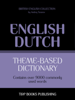 Theme-Based Dictionary: British English-Dutch - 9000 words