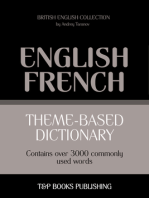 Theme-Based Dictionary: British English-French - 3000 words