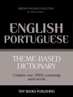 Theme-Based Dictionary: British English-Portuguese - 3000 words