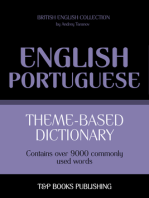 Theme-Based Dictionary: British English-Portuguese - 9000 words