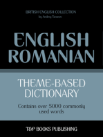 Theme-Based Dictionary: British English-Romanian - 5000 words
