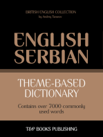 Theme-Based Dictionary: British English-Serbian - 7000 words