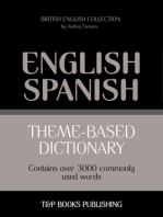 Theme-Based Dictionary: British English-Spanish - 3000 words