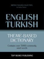 Theme-Based Dictionary: British English-Turkish - 5000 words