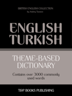 Theme-Based Dictionary: British English-Turkish - 3000 words