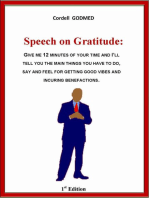 Speech on Gratitude