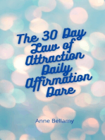 The 30 Day Law of Attraction Daily Affirmation Dare