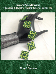 Square Patch Bracelet Beading & Jewelry Making Tutorial Series T118