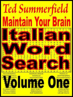 Maintain Your Brain Italian Word Search Puzzles Volume 1