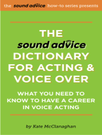 The Sound Advice Dictionary for Acting & Voice Over