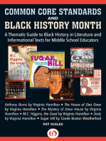 Common Core Standards and Black History Month