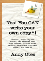 Yes! You Can Write Your Own Copy!