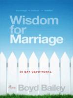 Wisdom for Marriage