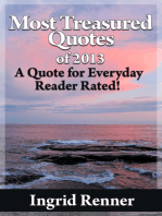 Most Treasured Quotes Of 2013 A Quote for Every Day Reader Rated!