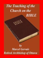 The Teaching of the Church on the Bible
