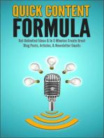 Quick Content Formula