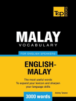 Malay Vocabulary for English Speakers: 3000 Words