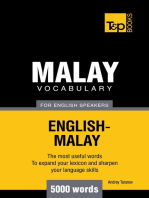 Malay Vocabulary for English Speakers: 5000 Words