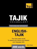 Tajik vocabulary for English speakers: 5000 words