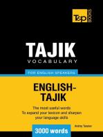 Tajik vocabulary for English speakers: 3000 words