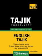 Tajik vocabulary for English speakers