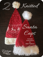 2 Knitted Santa Caps