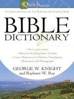 The Quicknotes Bible Dictionary
