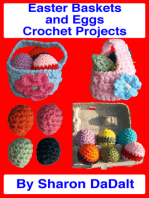Easter Baskets and Eggs Crochet Projects