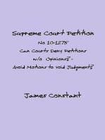 Supreme Court Petition No 10-1275